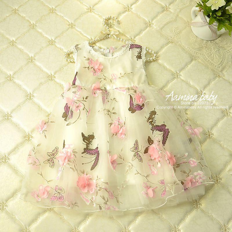 Pétale de fleur Filles Robes D'été 2017, enfants Tutu Robes de Princesse Pour Les Filles, bébé Imprimer Party Girl Robe Enfants filles Vêtements