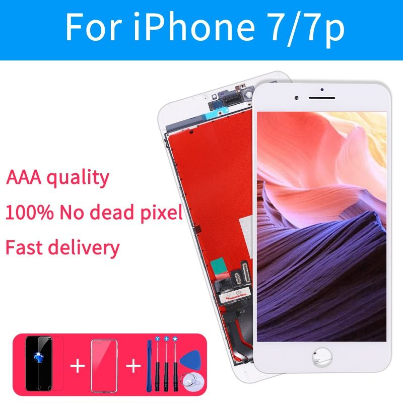 AAA Quality LCD Screen For iPhone 6 Display Assembly Replacement with Original Digitizer Phone Parts for iphone 7 7p 8 lcd