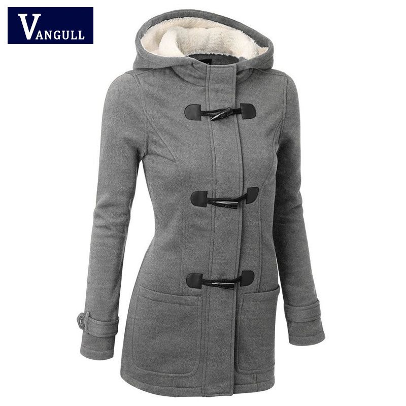 <font><b>Women</b></font> Causal Coat 2018 New Spring Autumn <font><b>Women's</b></font> Overcoat Female Hooded Coat Zipper Horn Button Outwear Jacket Casaco Feminino