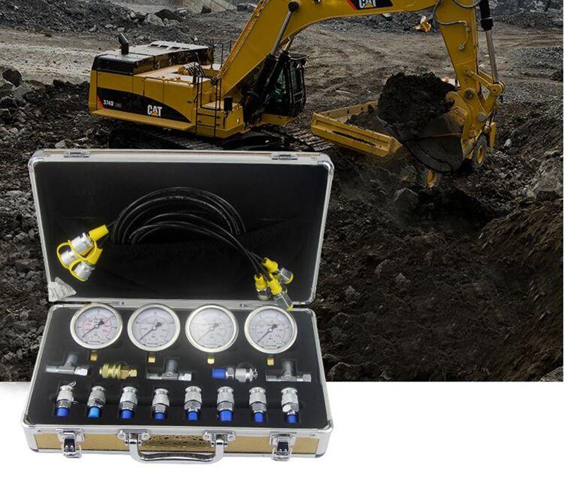 Professionelle Bagger hydraulische manometer Diagnose Test Kit Für Bagger Raupe Y