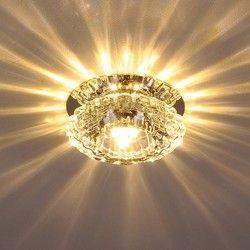 3W Aisle LED ceiling lamp living room crystal corridor aisle lights LED Ceiling Lights Luces de techo