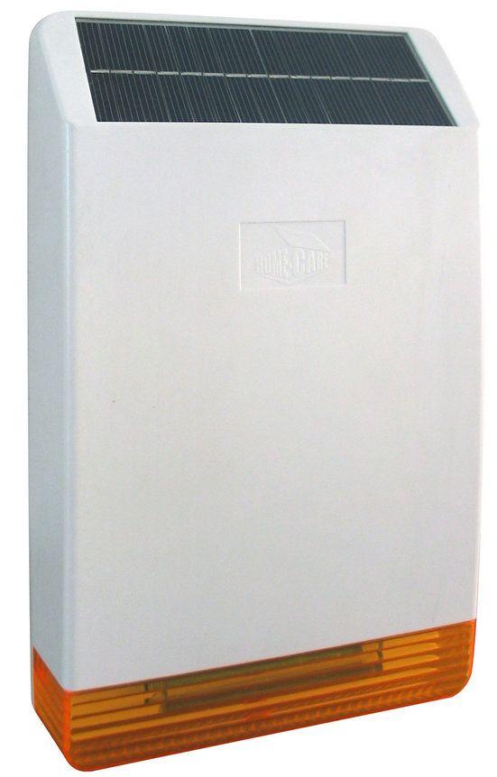 433/868 Wireless solar power outdoor-flash-sirene alarm system außensirene antimanipulations solarstrom alarm sirene