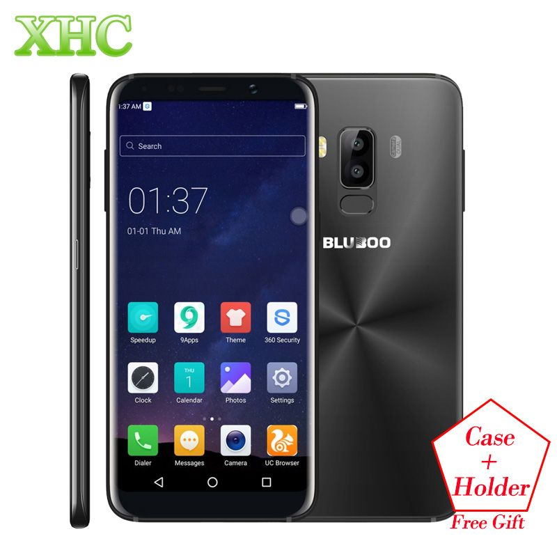 BLUBOO S8 5.7'' 18:9 Aspect Ratio Mobile Phone MT6750T Octa Core 3GB+32GB 13MP Dual Rear Cameras 3450mAh Fingerprint Smartphones