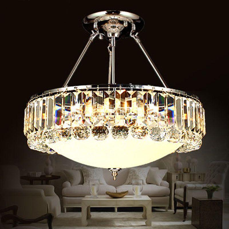 Z Luxury Circular Simple Creative Crystal Pendant Light For Living Room Dining Room Restaurant Circular Lamp Fahion High quality