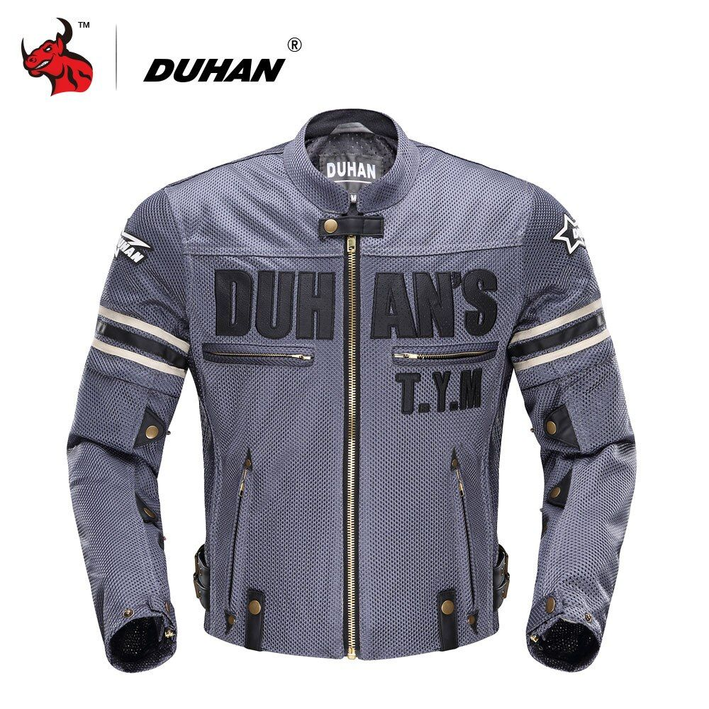 DUHAN Summer Men's Motorcycle Jacket Motocross Off-Road Jacket Motor Racing Jacket Breathable Mesh Moto Jacket Protective Gear