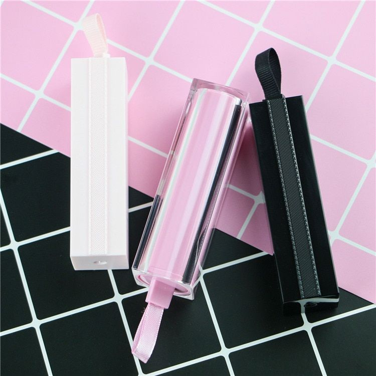 12/20/50PCS 12.1mm DIY 3 Colors Empty Square lipstick tube bottle Mouth Lip Balm Stick Sample Cosmetic Container With Ribbon