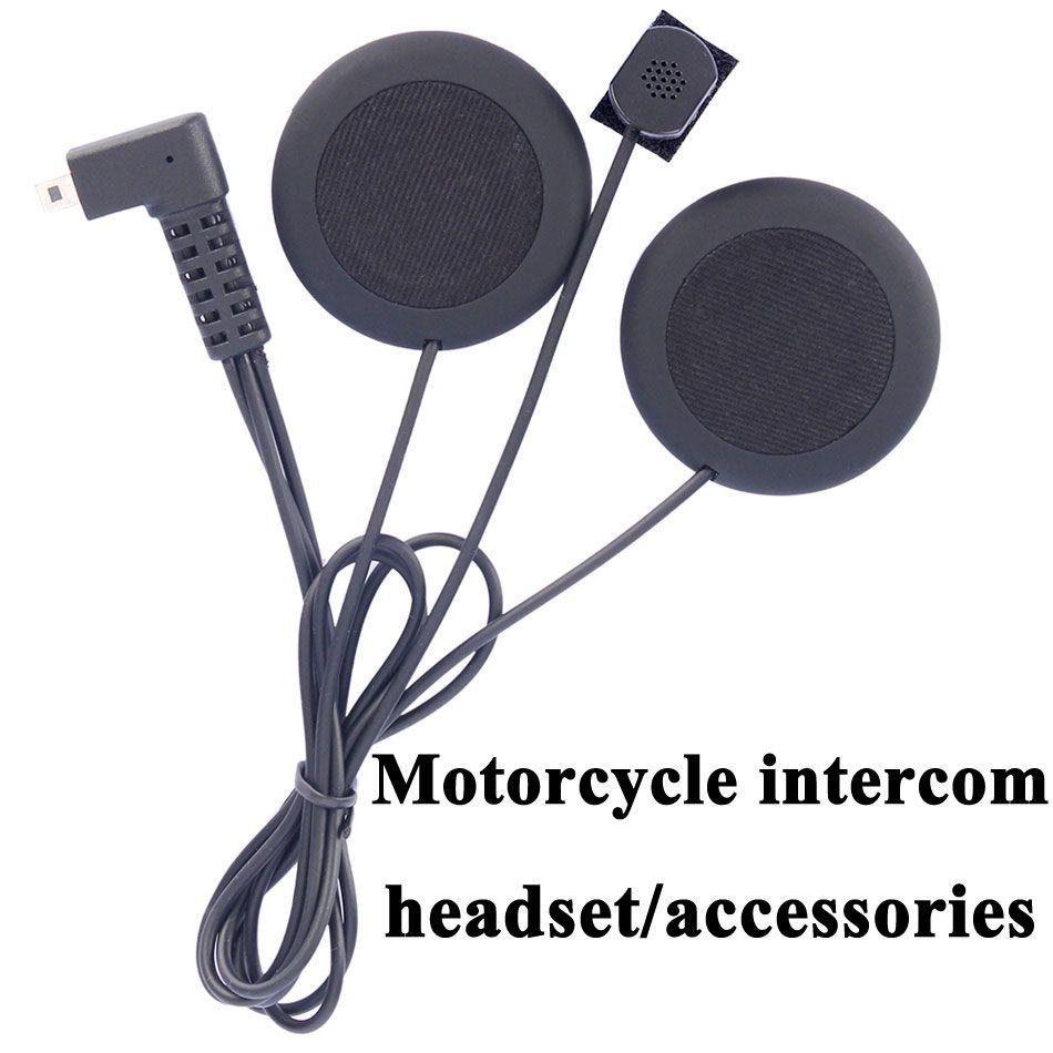 Motorcycle intercom accessories earphone soft earphone microphone for FDCVB T-COMVB TCOM-SC COLO moto helmet bt intercom headset