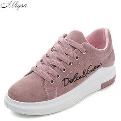 Mhysa 2018 Musim Semi New Designer Wedges Pink Platform Sneakers Wanita Sepatu Tenis Feminino Sepatu Wanita Kasual Perempuan Y07 Vulkanisir