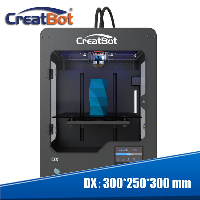 Free shipping! new Metal Frame desktop 3D Printer Machine High Precision impressora 300*250*300 mm DX03 three extruder