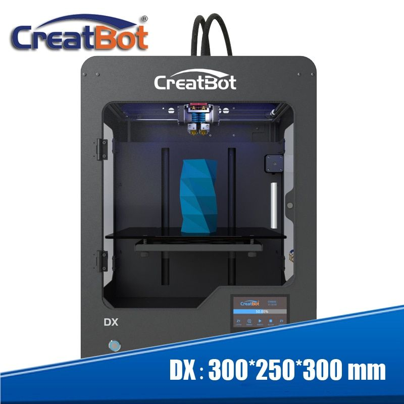 Free shipping! new Metal Frame desktop 3D Printer Machine High Precision impressora 300*250*300 mm DX03 three extruder