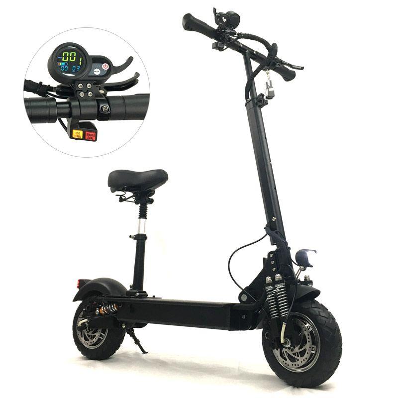 FLJ Elektrische Roller mit 52 V/2400 W Motoren starke Leistungsfähige Tretroller Faltbare elektrische Roller