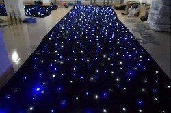 مختلط اللون RGB 2x3 M ، 3x4 M ، 3x6 M ، 4x6 M ، 4x8 M ستارة نجوم ليد SMD عالية مشرق المرحلة خلفية القماش للحريق القطيفة + تحكم
