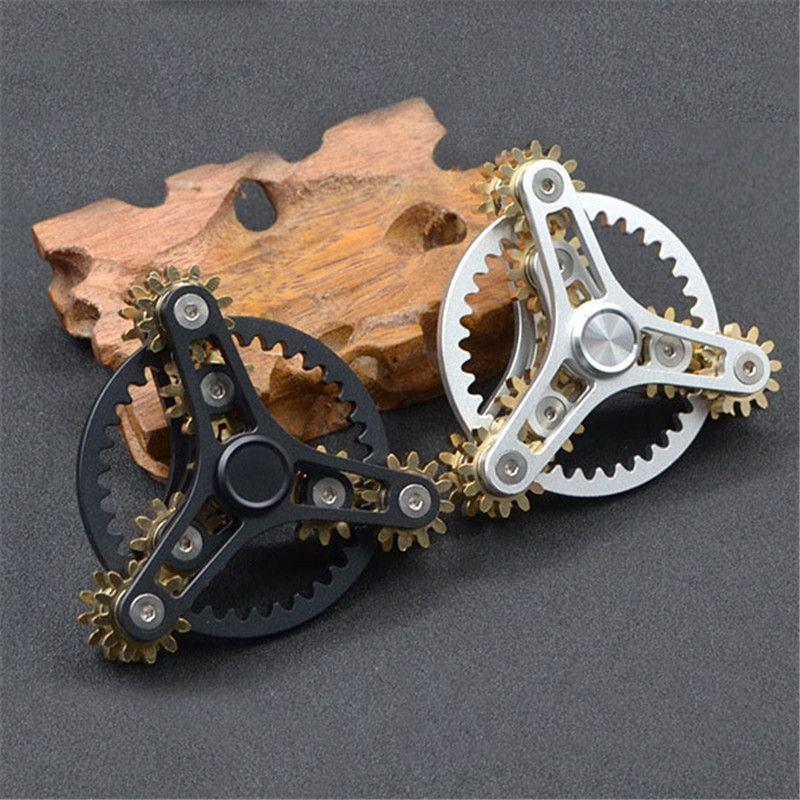 New Gears Fidget Spinner Toys Metal Brass Gear Finger Spinner Metal Hand Spinner EDC Spinning Top Stress Relief For ADHD