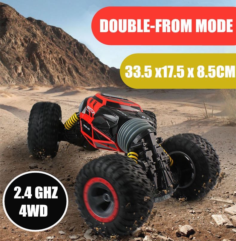 One Key Transformation RC Car Scale Double-sided 4WD Truck 2.4GHz All-terrain Vehicle Varanid Climbing Car Remote Control Toys
