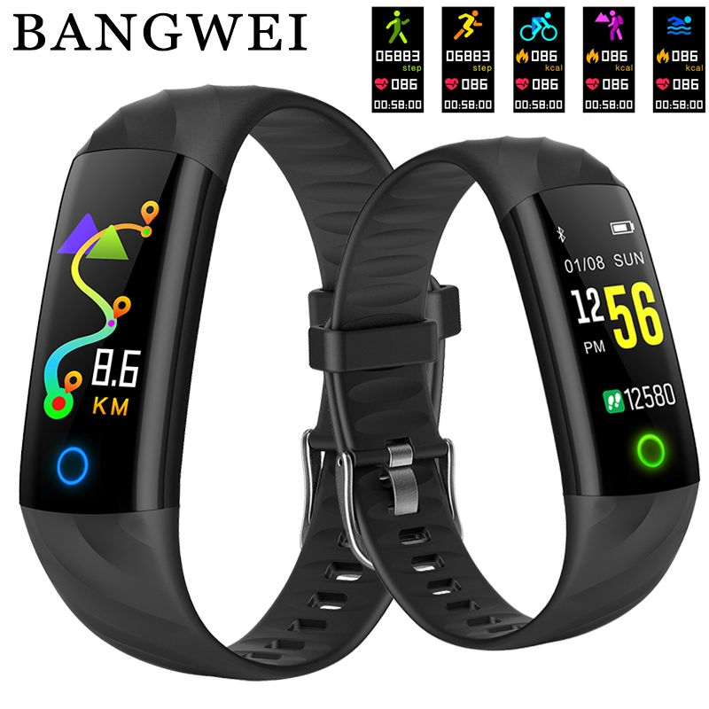 2018 New IP68 Waterproof Men Women Sports Pedometer Fitness Tracker Smart Bracelet Sphygmomanometer Smart Wristband PK mi band 3