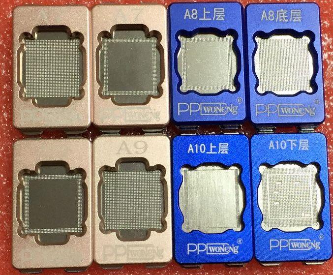 PPD Puce BGA Rebillage Pochoir pour iPhone 6 S 6 Plus 6SP 7 A7 A8 A9 A10 CPU Ram Supérieur Inférieur Reball Outil Pochoirs Plantés étain Moule
