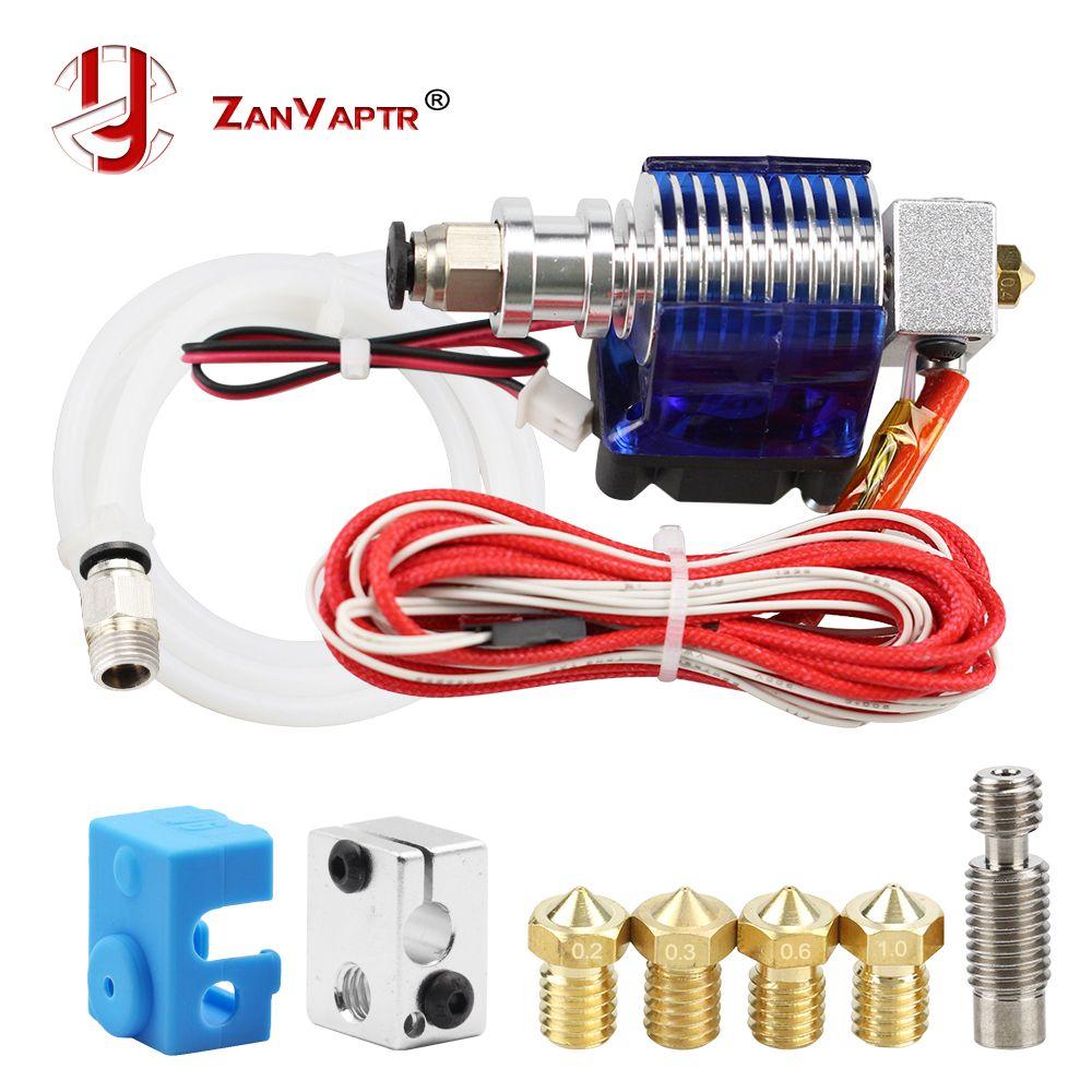 Imprimante 3D j-head Hotend avec ventilateur unique pour 1.75mm/3.0mm 3D v6 bowden Filament Wade extrudeuse 0.2mm/0.3mm/0.4mm buse