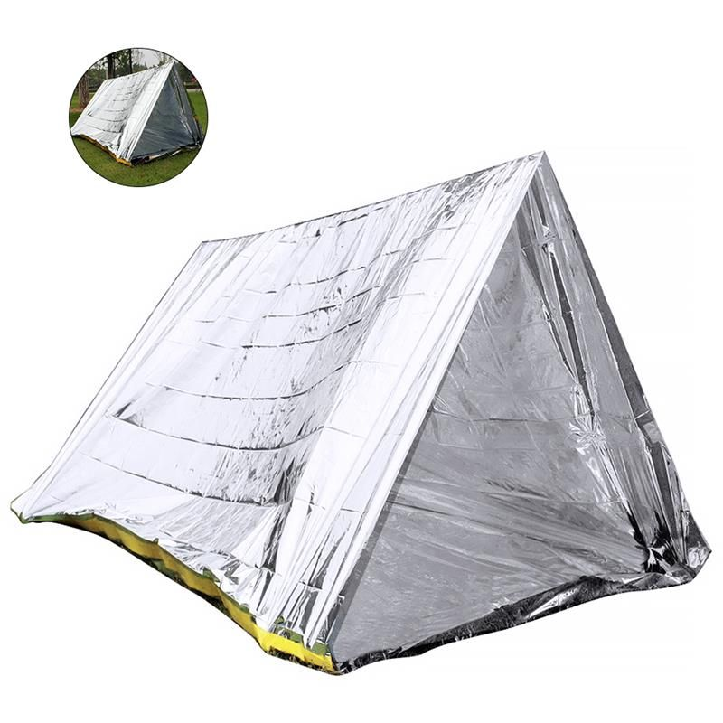 RUNACC Outdoor Survival tent Emergency Shelter Hiking Camping tent outdoor Emergency Tent for Cold Temperature Environments