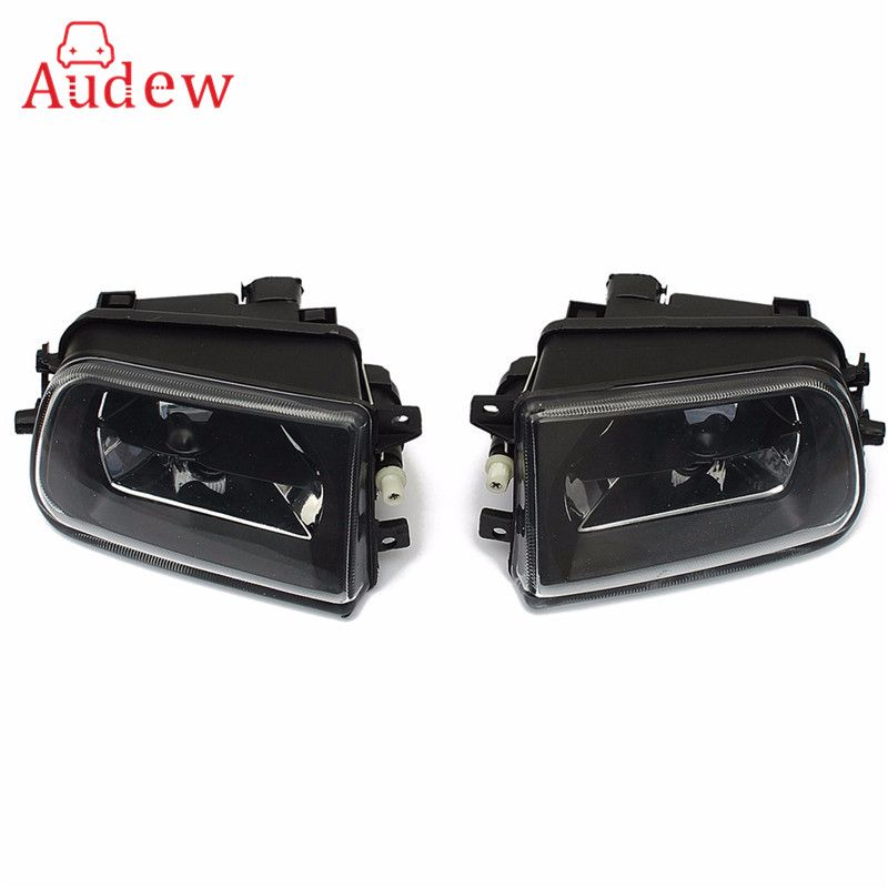 2x Clear Bumper Fog Lamps Front Driving Lights For BMW E39 528i 540i Z3 1997/1998/1999/2000/2001 Car Accessories