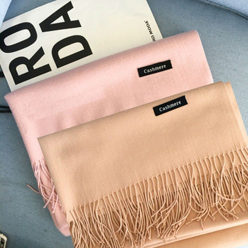 HOT Luxury Brand Scarf Pashmina Cashmere Scarf Wrap Shawl Winter Scarf Women's Scarves Tassel Long Blanket Cachecol High Quality