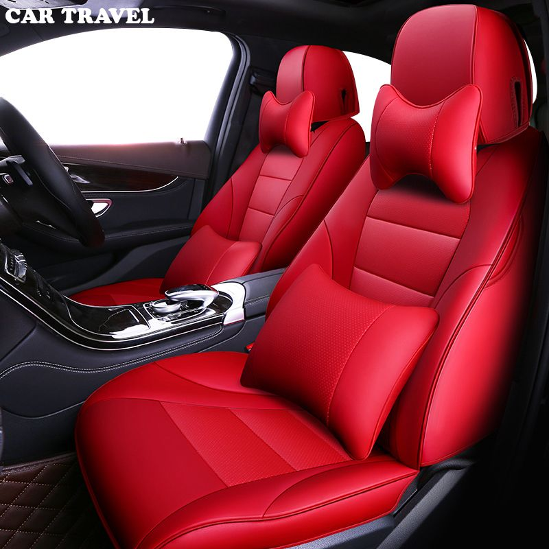 CAR TRAVEL Custom leather car seat cover for audi a3 8p 8l sportback A4 A6 A5 Q3 Q5 Q7 accessories covers for vehicle seat