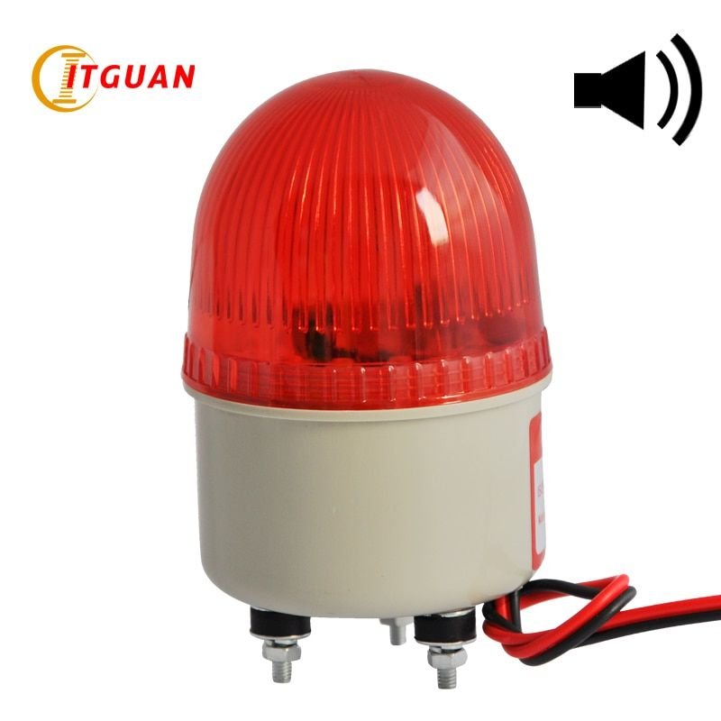 LTE-2071J Incandcent Rotary Warning Light Alarm Bolt Bottom With Buzzer Sound 90dB Mini Emergency Lamp 12V 24V 220V