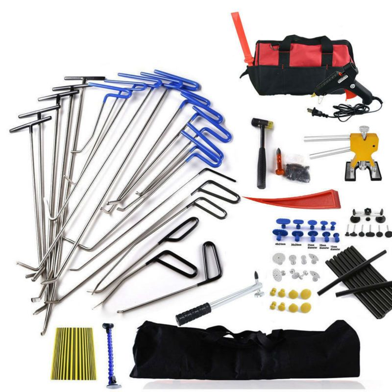 Furuix PDR Tools Ding Dent Repair Rods Professional Paintless Hail Removal Big Kit