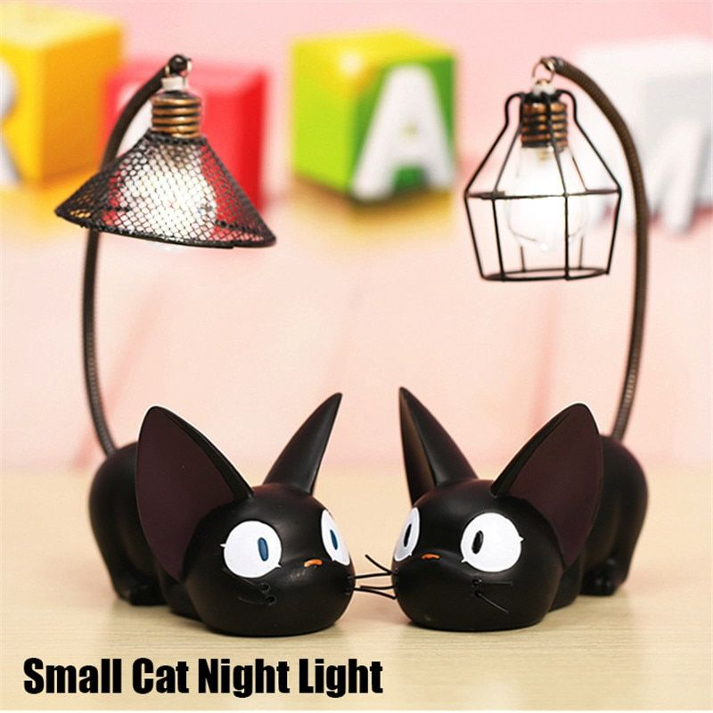 Smuxi LED Night Light C reative Resin Cat Animal Night Light Ornaments Home Decoration Gift Small Cat Nursery Lamp Breathing