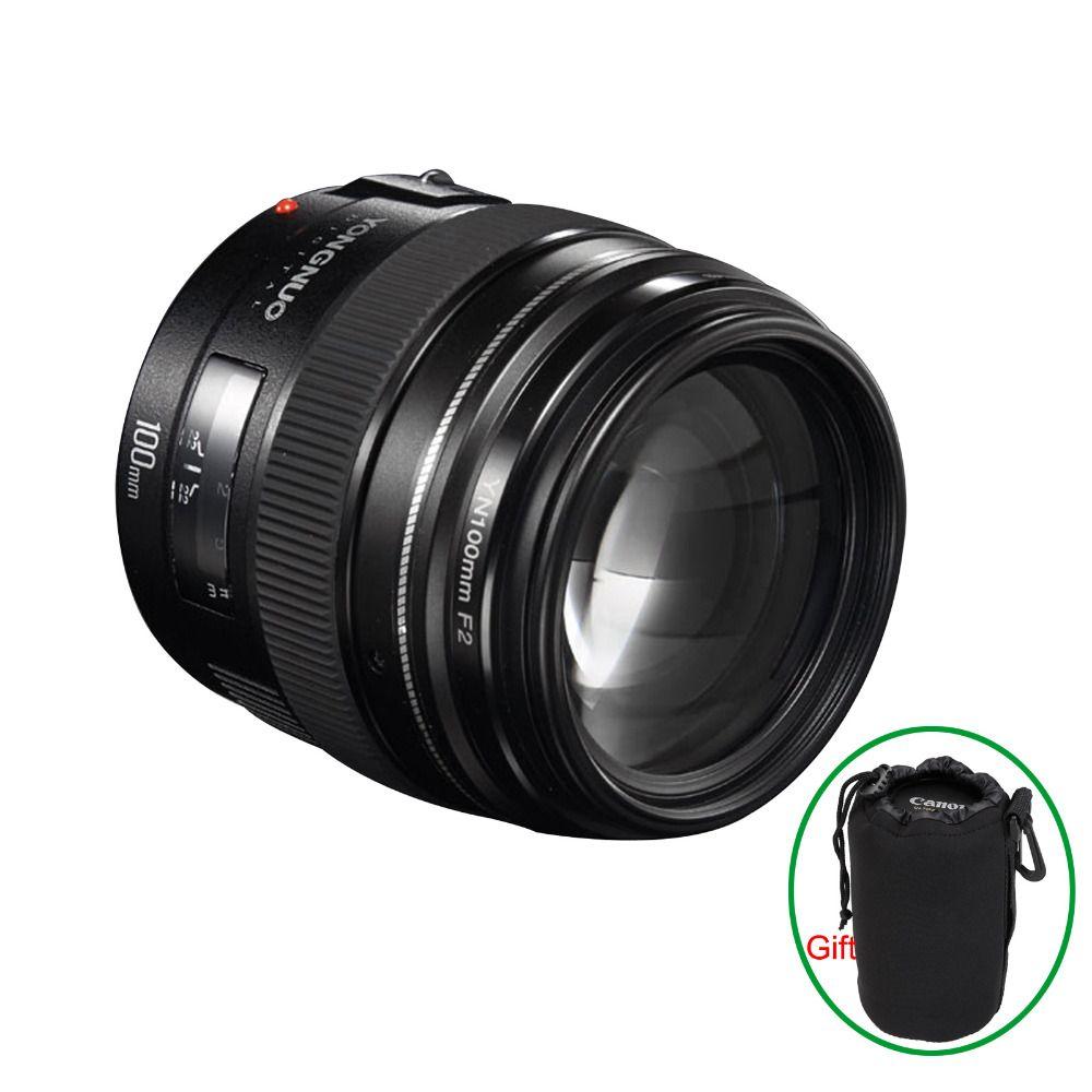 Yongnuo YN100mm F2 Medium Telephoto Prime Lens For Canon EOS Rebel Camera AF MF Lenses