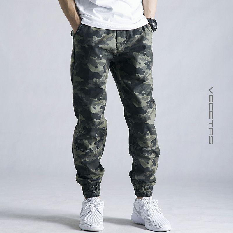 Nuevo 2016 Mens del Otoño Lápiz Pantalones Harén Sueltan Los Pantalones Cómodos de Los Hombres de Camuflaje Militar de Carga Pantalones de Camuflaje pantalones de Chándal 28-42