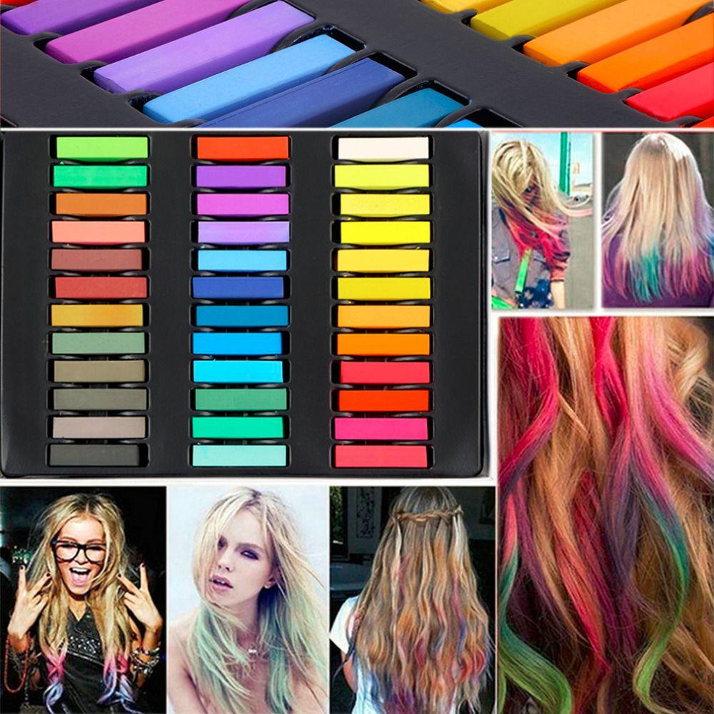 36 Цвета краска для волос легко временные Цвета Нетоксическо волос Мел Мягкие пастели комплект Окрашивание волос Мелки для волос