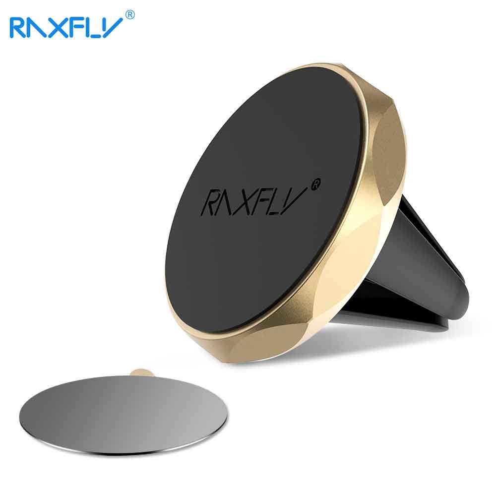 RAXFLY Magnet Car Holder For iPhone Samsung Huawei Phone Magnetic Stand Air Vent Support Universal Holder For Xiaomi HTC Sony