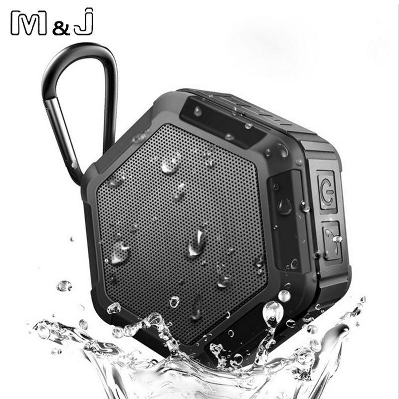 M & J travail dans l'eau Portable sans fil Bluetooth haut-parleur Subwoofer puissant IP65 Sport de plein air lecteur Mp3 haut-parleur de musique basse