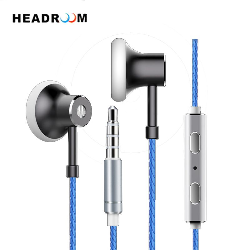 HEADROOM MS16 in-ear Earphone with Mic Sports Headset Women Man Noise <font><b>Canceling</b></font> Stereo Bass Headphone for Computer iPhone xiaomi