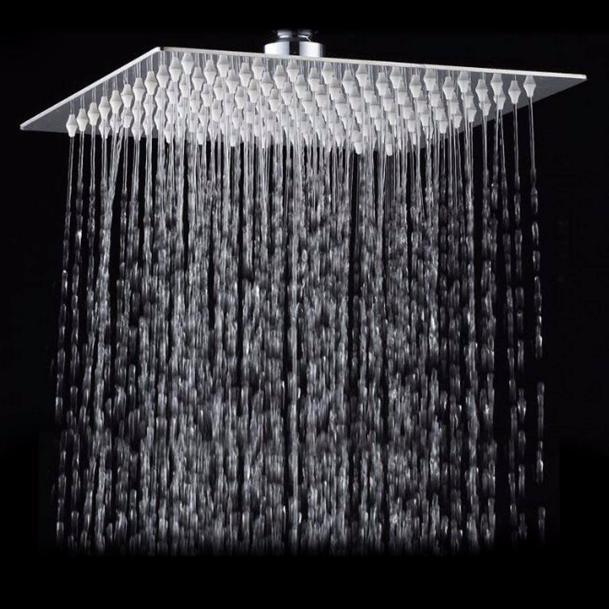 Platz Badezimmer Edelstahl Regen Duschkopf Niederschläge 12 Zoll Bad Dusche Chrom Top Sprayer Regendusche