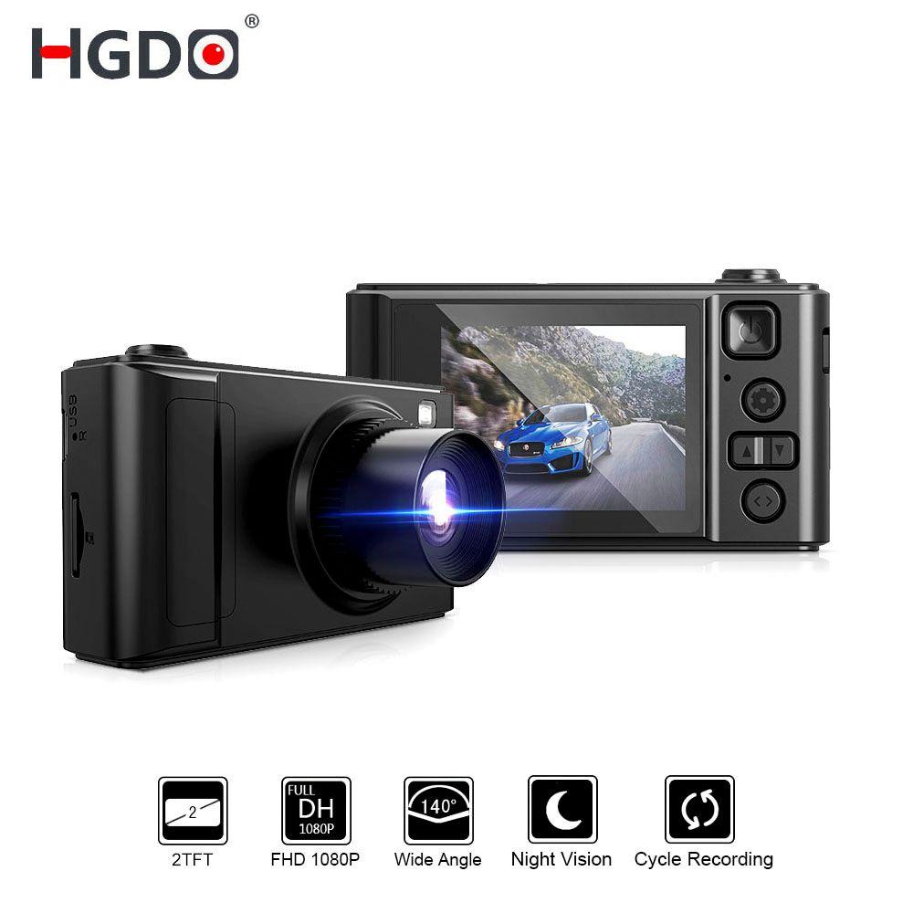 HGDO 2 voiture DVR Mini Dash cam Full HD voiture caméra caméscope 1080 P Dvrs Vision nocturne enregistreur vidéo Autoregister Dashcam