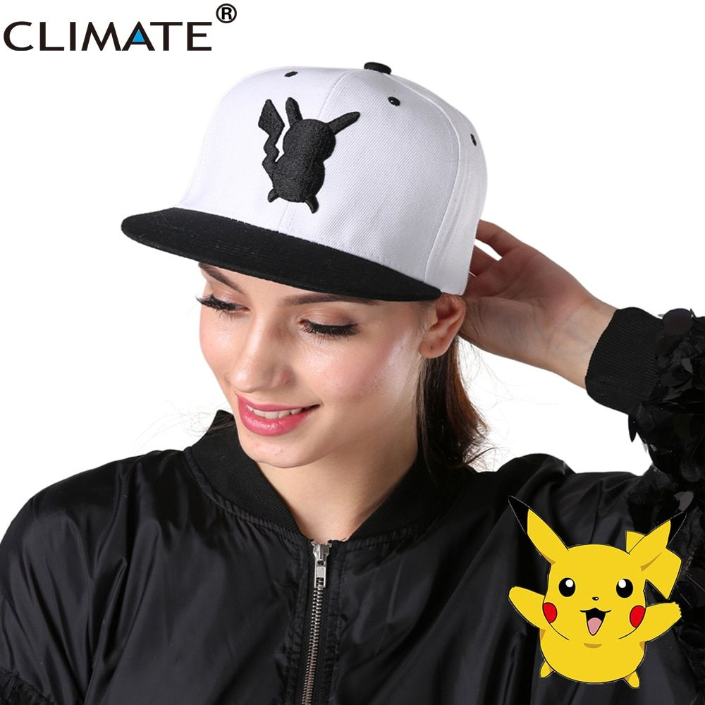 Климат 2017 игра прекрасный Pocket Monster Go Пикачу Mewtwo попался Плоский Snapback шапки Новый взрослых Для мужчин Для женщин Pocket Monster hat шапки