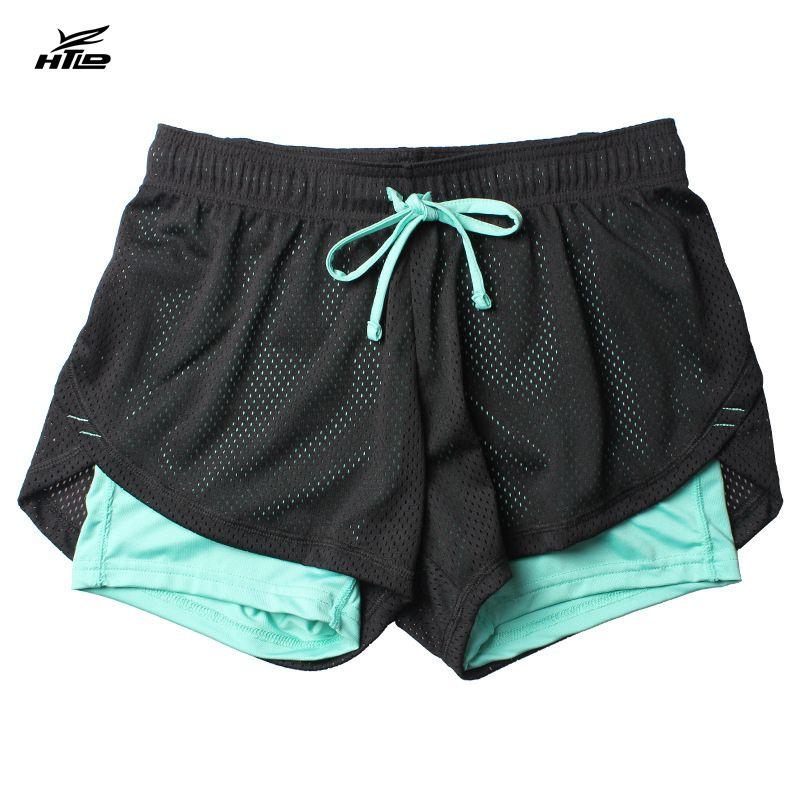 HTLD Gym Shorts Frauen Fitness Doppelschicht Sport Shorts athletisch Jogger Tennis Shorts 2 In 1 Übung Yoga Kurze Femme