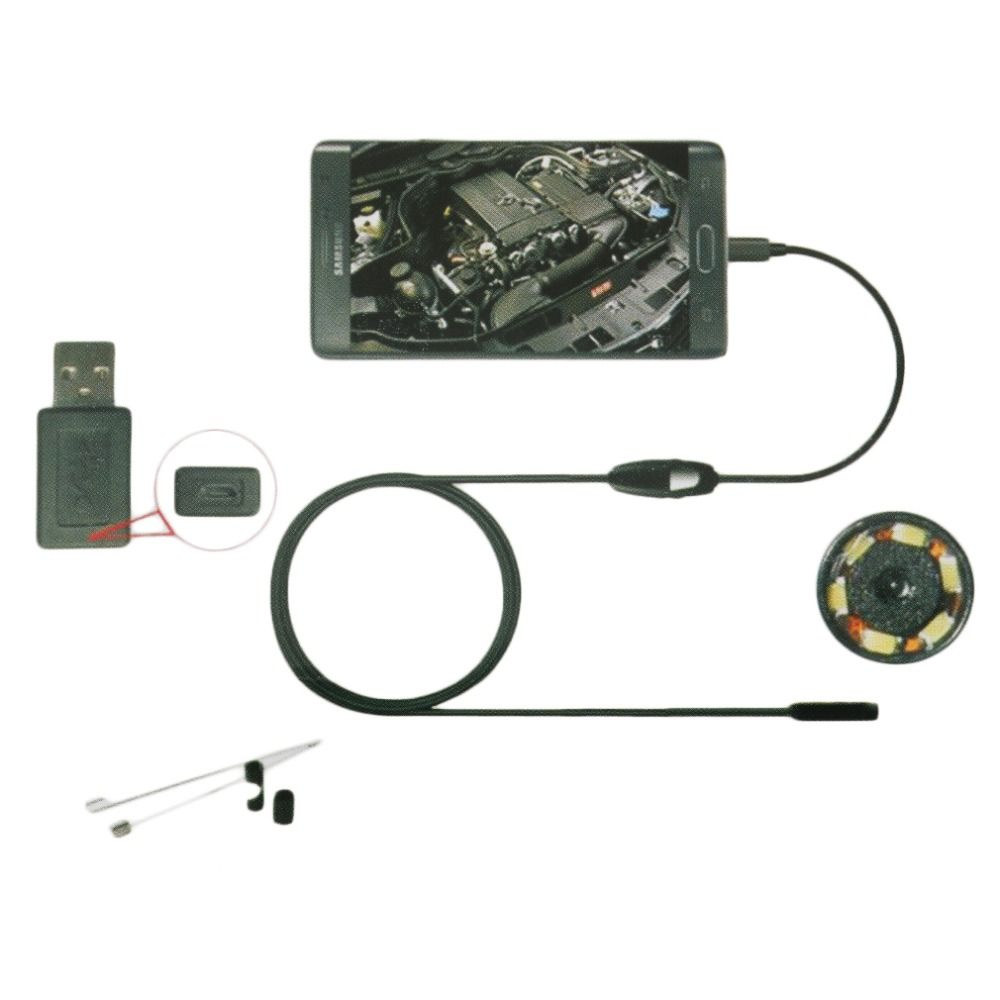 6LED 7mm Lens Endoscope Waterproof Inspection Borescope Camera for Android dropshipping