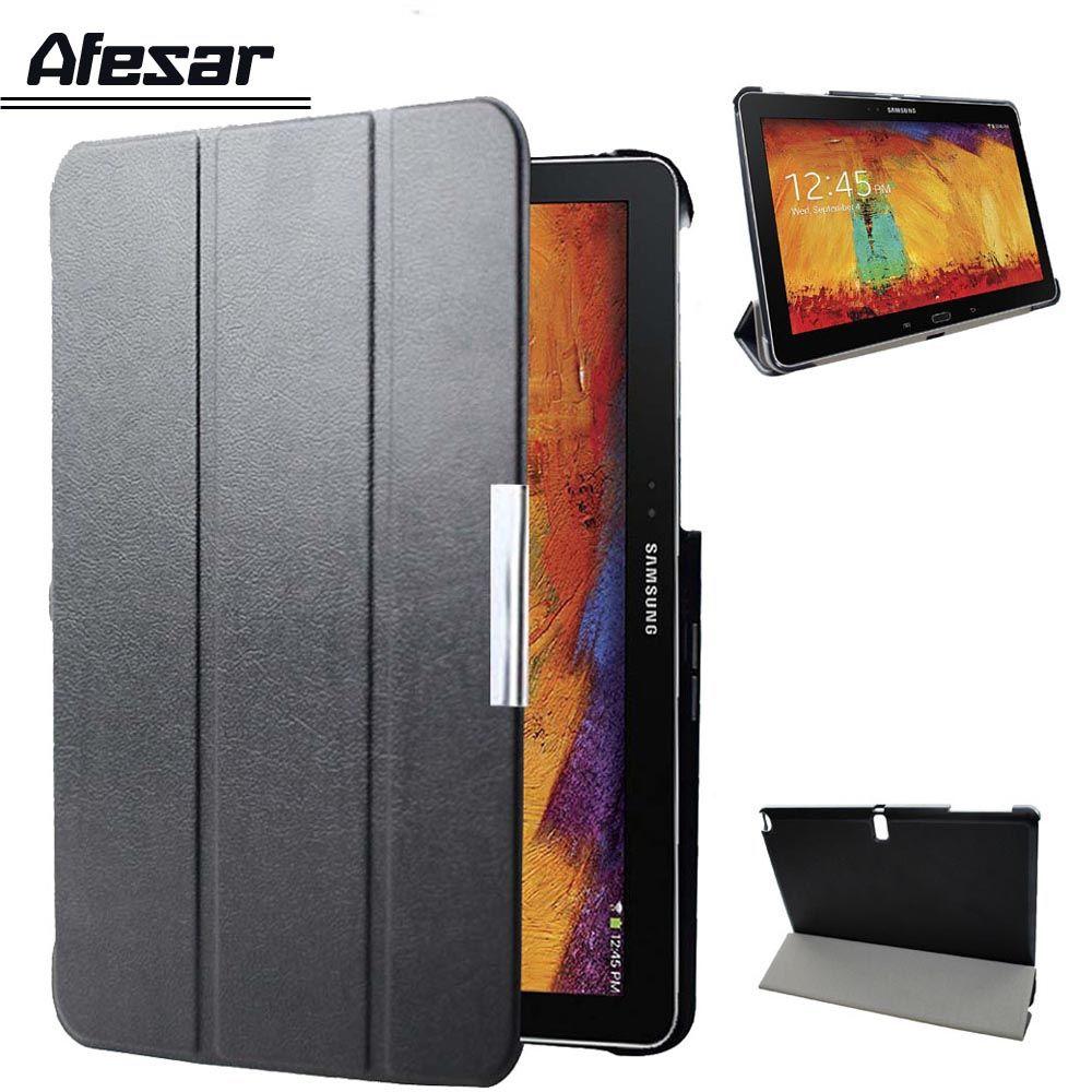 Pour Samsung Galaxy Note 10.1 2014 édition p600 p605 p601 étui intelligent/Tab Pro 10.1 T520 T521 T525 tablette couverture aimant sommeil
