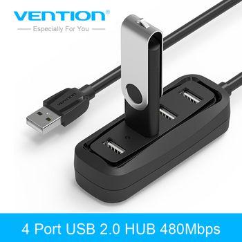 Convention 4 Port USB HUB 2.0 Portable OTG HUB 480 Mbps USB Splitter avec Lampe LED pour Apple Macbook Ordinateur Portable PC Tablet USB 2.0 HUB