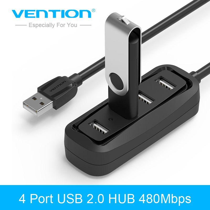 Tions 4 Port USB HUB 2,0 Tragbare OTG HUB 480 Mbps USB Splitter mit Led-lampe für Apple Macbook Air Laptop PC Tablet