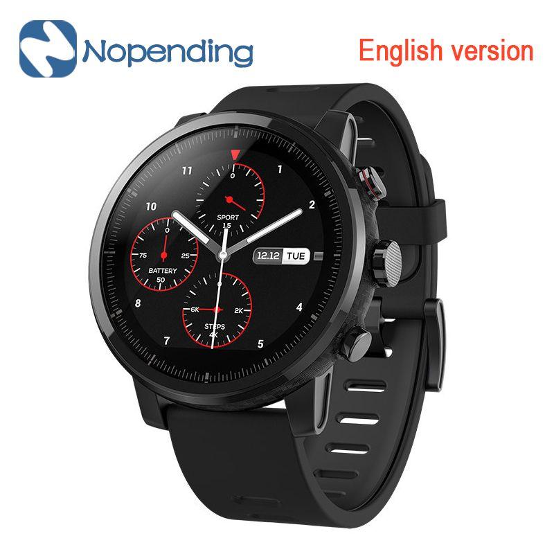 NEW Original Huami Amazfit Stratos Intelligents Sport Montre 2 5ATM Résistant À L'eau 1.34 «2.5D Écran GPS Firstbeat De Natation Smartwatch