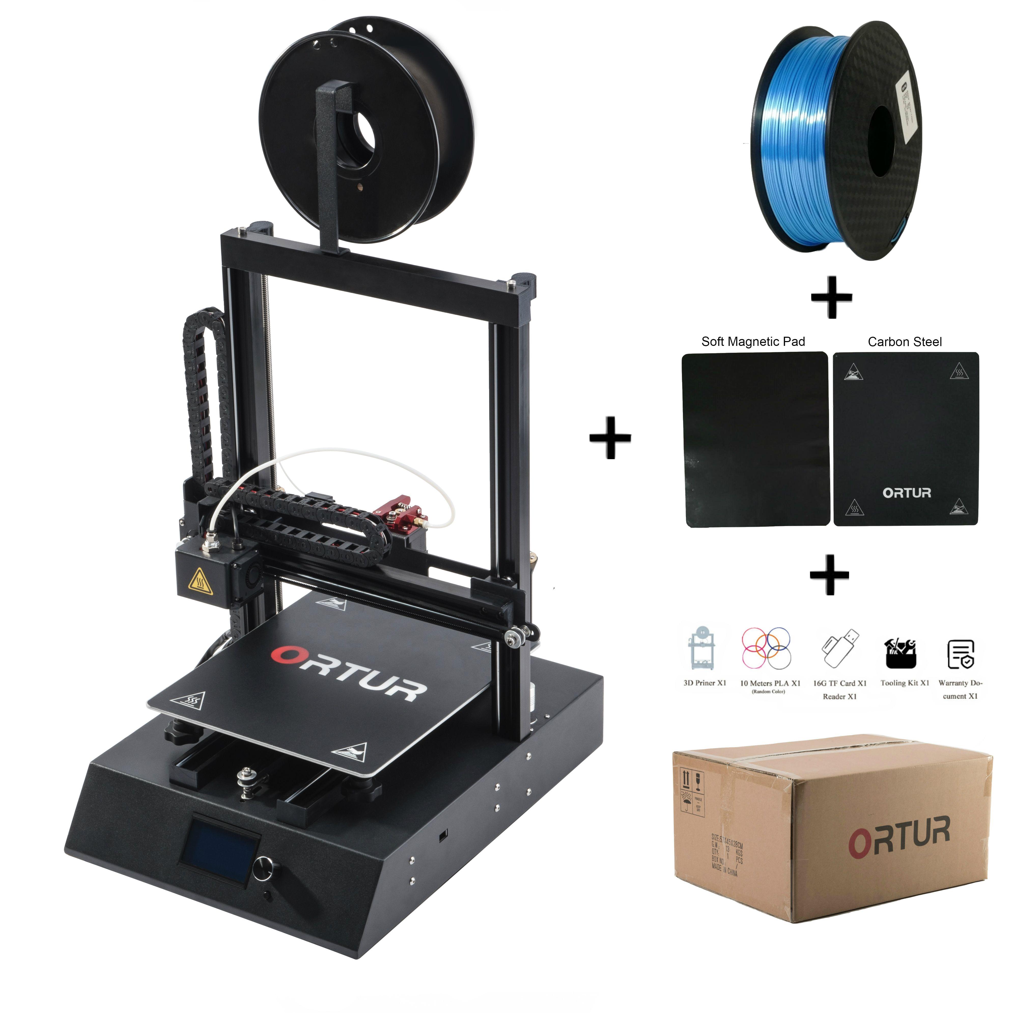 Geeignet für Anfänger Ortur4 Metall 3D Drucker Drucken DIY Kit Magnetische Bauen Plattform Impresora 3d Linear Guide Schienen 3d Drucker