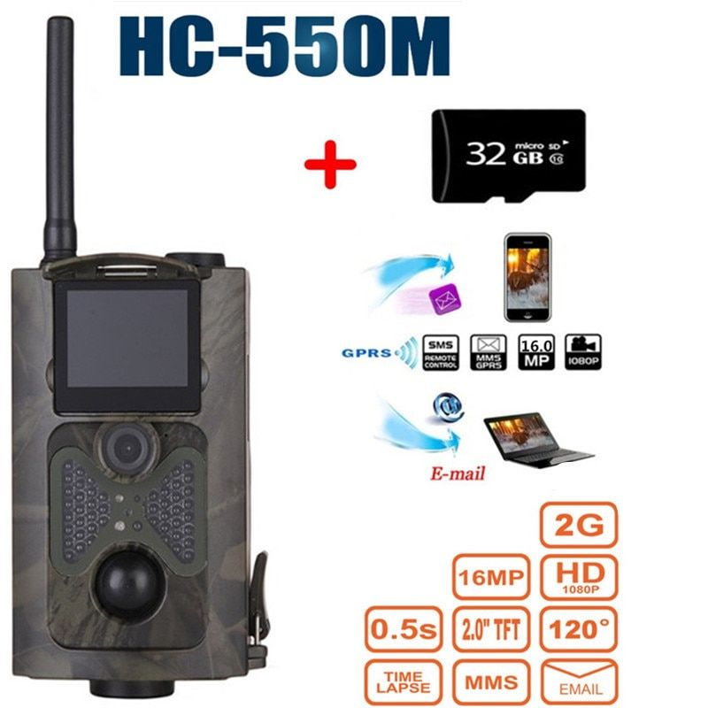 HC-550M Night Vision Hunting Camera  Wild Hunter Game Trail Trap Sensor Gsm Mms Infrared Wildlife Camera 120 Degree Wide Angle