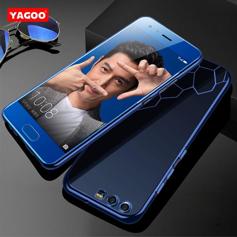 Huawei Honneur 9 cas de couverture de silicium tansparent tpu de luxe antichoc capa d'origine Yagoo Huawei Honor V9 cas souple fundas coque