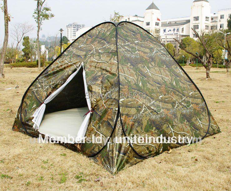 3-4 personnes pop up tente à bas prix pour voyage en plein air camping deux couleurs de camouflage pli dans un sac de transport rond facile à transporter