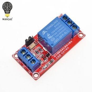 Один 1 channel 5 В релейный модуль Совет щит с анод Поддержка высокий и низкий уровень запуска для Arduino wavgat