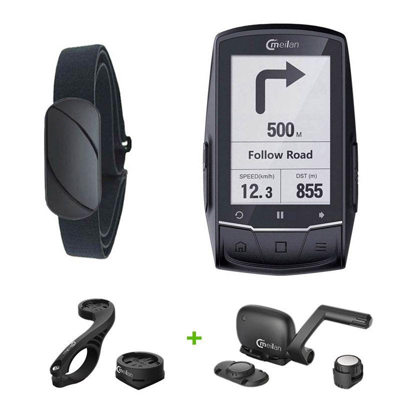Radfahren GPS computer 2,6 zoll 1200 mAh Bluetooth Fahrrad GPS navigator können verbindung für Apple Samsung Huawei LG android 6.0