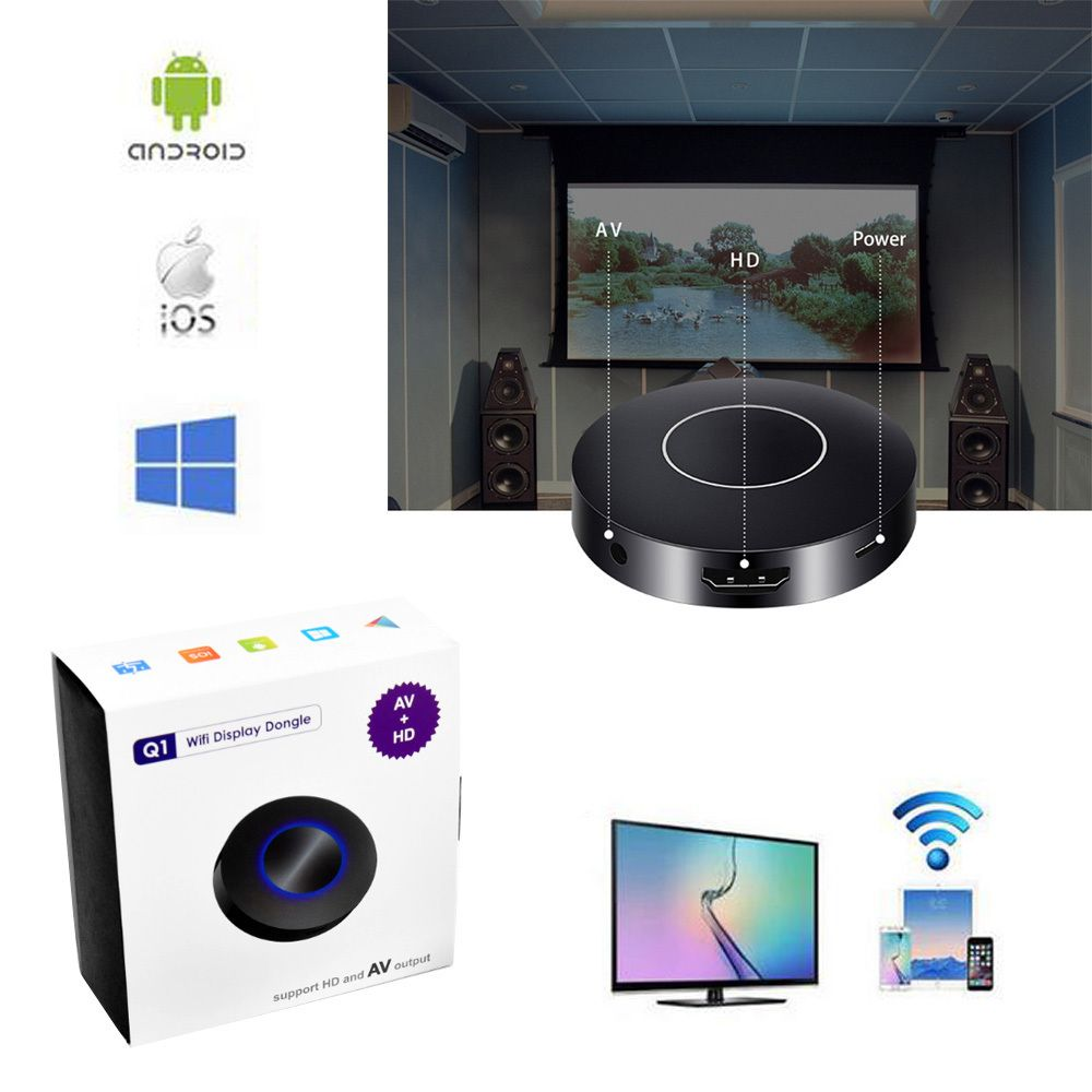 Wifi Anzeige Receiver PC Android Media Player für Android IOS AnyCast drahtlose DLNA Airplay Dongle HD und AV TV-Stick Push Guss